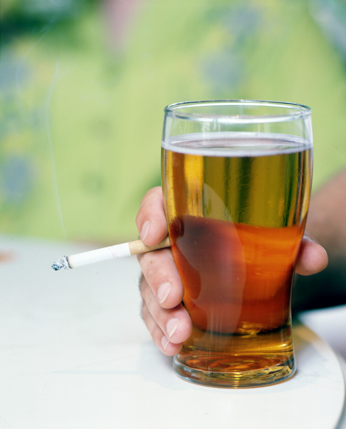 smoking-cigarette-and-beer-in-pint-glass-ajhd1