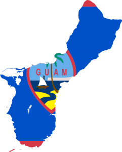 guam flag map